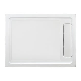OVE DECORS Anti-slip White Shower Base 48x32 in with Side Hidden Drain