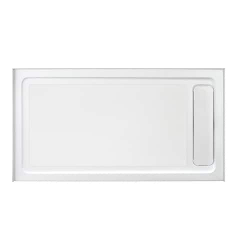 OVE DECORS Anti-slip White Shower Base 60x32 in with Side Hidden Drain