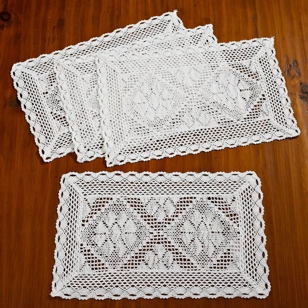 Vintage Crochet PATTERN to make Violet Flower Doily Centerpiece Mat Motif Violet