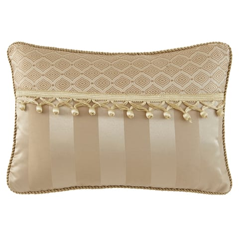 Waterford Anya Pale Gold 12x18 Decorative Pillow - Pale Gold