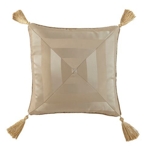 Waterford, Anya Pale Gold 18x18 Decorative Pillow - Pale Gold