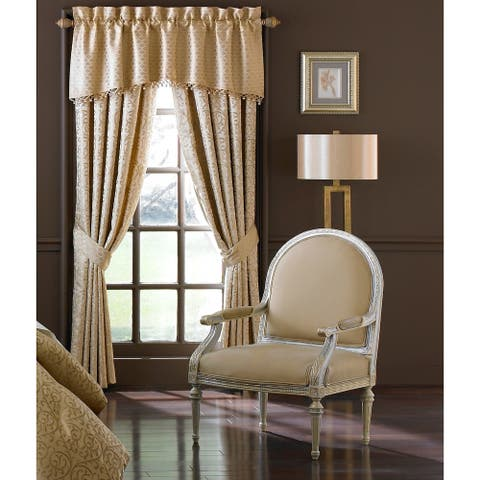 "Waterford Anya Pale Gold Curtain Panel Pair - 50""X84"""
