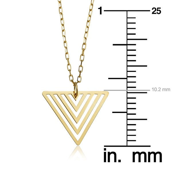 TRIANGLE NECKLACE 14KT GOLD TRIANGLE NECKLACE 18 INCHES