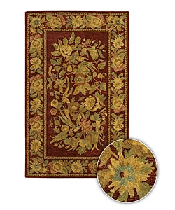 Artist's Loom Hand-tufted Transitional Floral Wool Rug (7'9x10'6) - Thumbnail 0