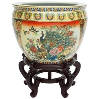 "16"" Famille Rose Porcelain Fishbowl"
