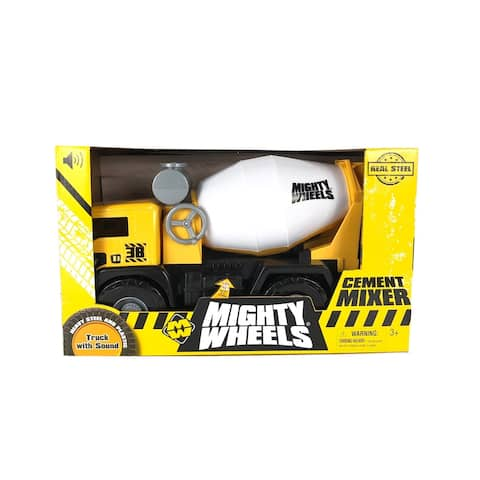 "Mighty Wheels 16"" Cement Mixer Construction Toy Vehicle"