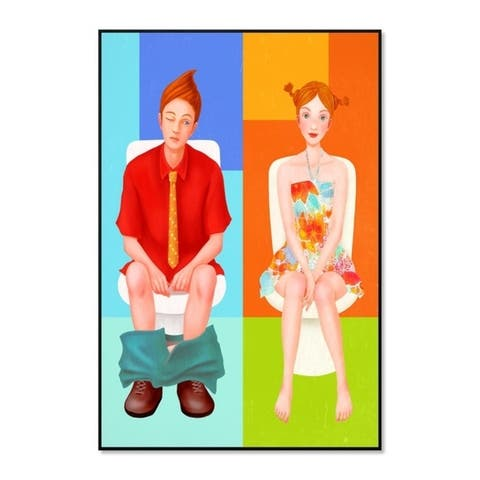 "Epic Graffiti ""Boy Meets Girl"" Framed High Gloss Acrylic Wall Art"