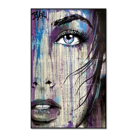 "Epic Graffiti ""Indigo Feeling"" Framed High Gloss Acrylic Wall Art"