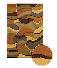 Artist's Loom Hand-tufted Contemporary Geometric Wool Rug - multi - 8' x 11'