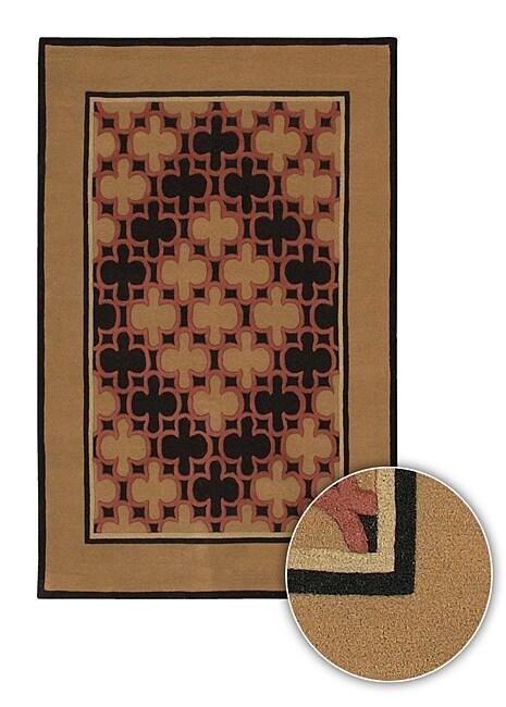 Artist's Loom Hand-tufted Contemporary Geometric Wool Rug (7'9x10'6) - 8' x 11'