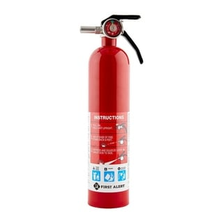 First Alert Rechargeable Home Fire Extinguisher UL Rated 1-A:10-B:C