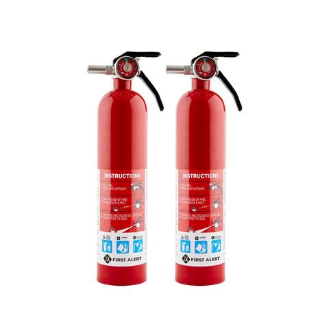 First Alert HOME1 ABC 2.5lb Rechargeable Fire Extinguisher-HOME (2pk)