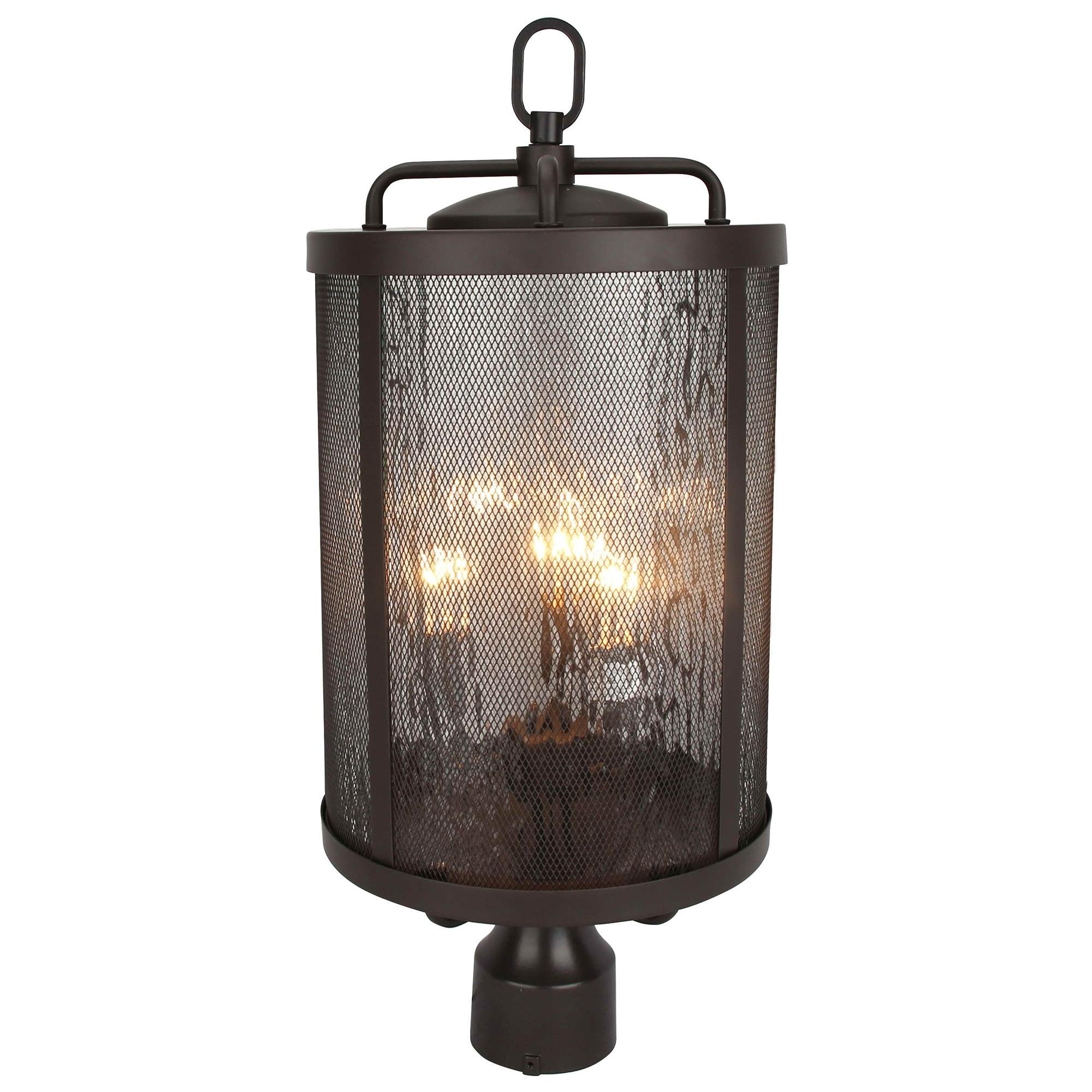 Shop 3 Light Outdoor Post Lighting In Bronze Finish On Sale Overstock 28868693