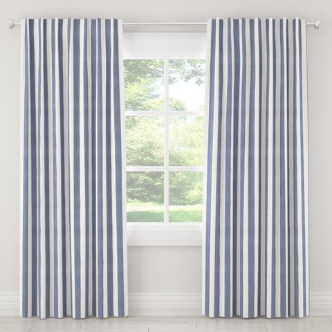 Skyline Furniture Curtains in Brush Cabana Icy Blue