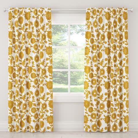 Skyline Furniture Curtain in Gardenia Gold