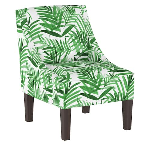 Swoop Arm Chair in Cali Palm Green