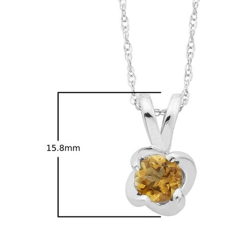"""Sterling Silver Birthstone Swirl Pendant with 18"""" Chain - N/A"""