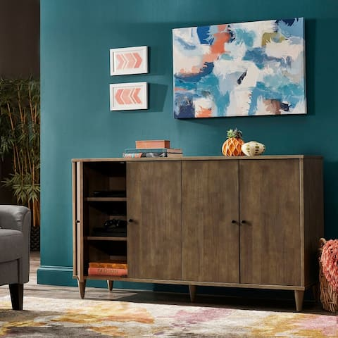 Strick & Bolton Vilas Light Charcoal Grey Buffet