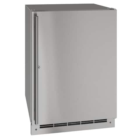 Outdoor Solid Refrigerator 24 In Lock Reversible Hinge Stainless 115v