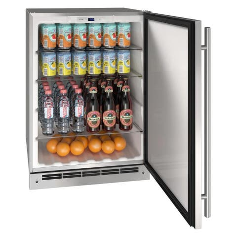 Outdoor Solid Refrigerator 24 In Reversible Hinge Stainless 115v