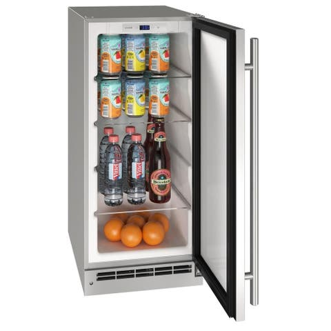Outdoor Solid Refrigerator 15 In Reversible Hinge Stainless 115v
