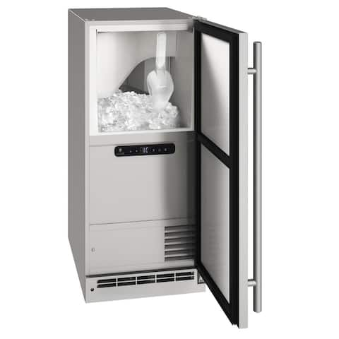 Outdoor Clear Ice Machine 15 In Reversible Hinge Stainless 115v