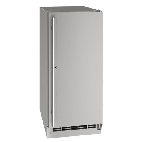 Outdoor Solid Refrigerator 15 In Lock Reversible Hinge Stainless 115v