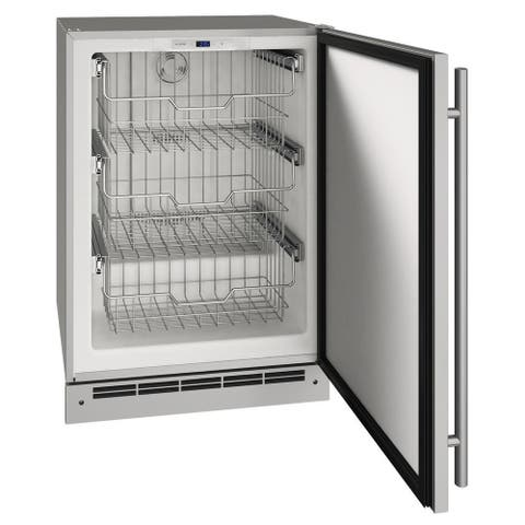 Outdoor Freezer 24 In Reversible Hinge Stainless 115v