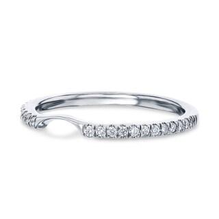 Annello By Kobelli 14k Gold 1 6 Carat TDW Lab Grown Diamond Notched Matching Wedding Band Annello 61766 Series