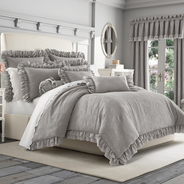 Five Queens Court Emelia Matelassé Comforter Set. Opens flyout.