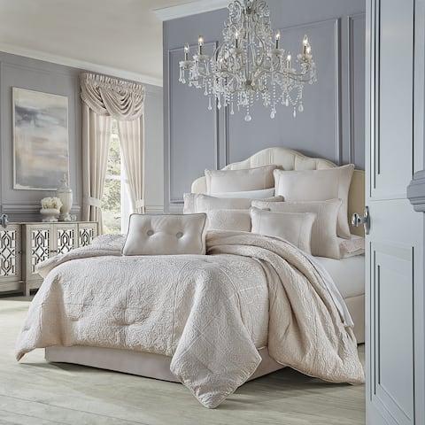 Five Queens Court Riddel Blush Luxury Comforter Set