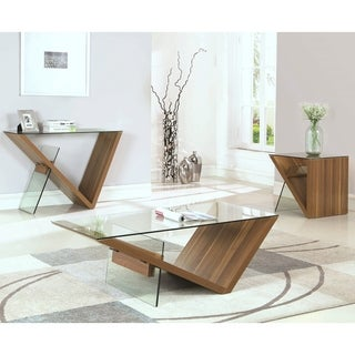 Contemporary Modern V Design Living Room Table Collection