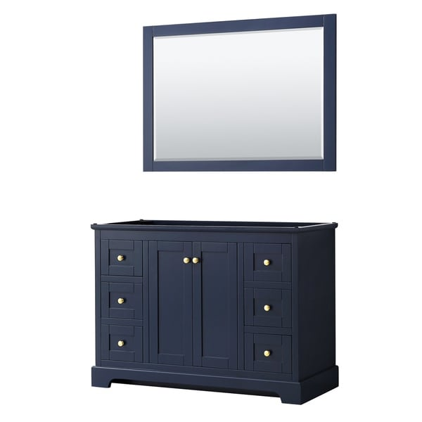 Avery 48-inch Single Vanity, No Top, No Sink, 46-inch Mirror