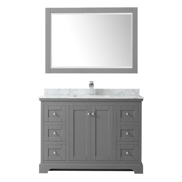 Shop Avery 48 Inch Single Vanity Marble Top Square Sink