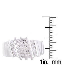 Simon Frank 14k White Gold Overlay Layered CZ Ring - Thumbnail 2