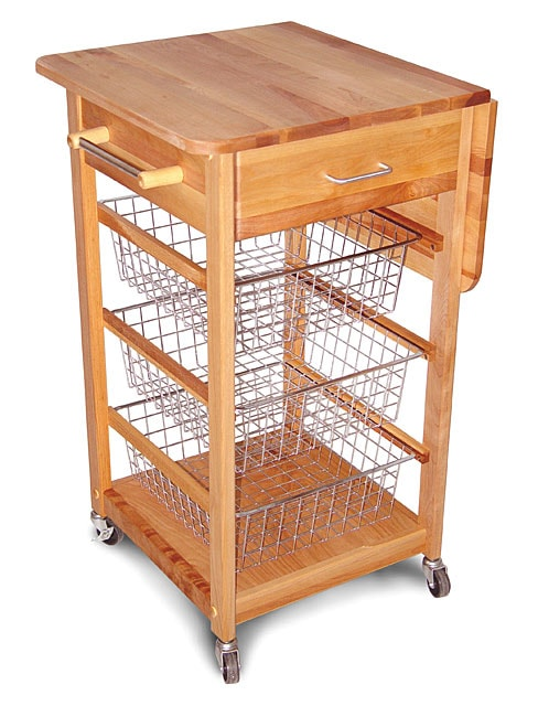 Catskill Craftsmen Drop Leaf Basket Cart - Thumbnail 0