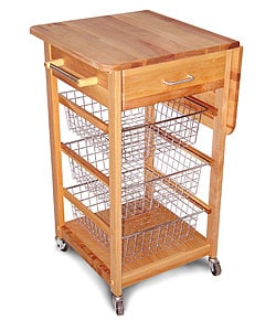 Catskill Craftsmen Drop Leaf Basket Cart