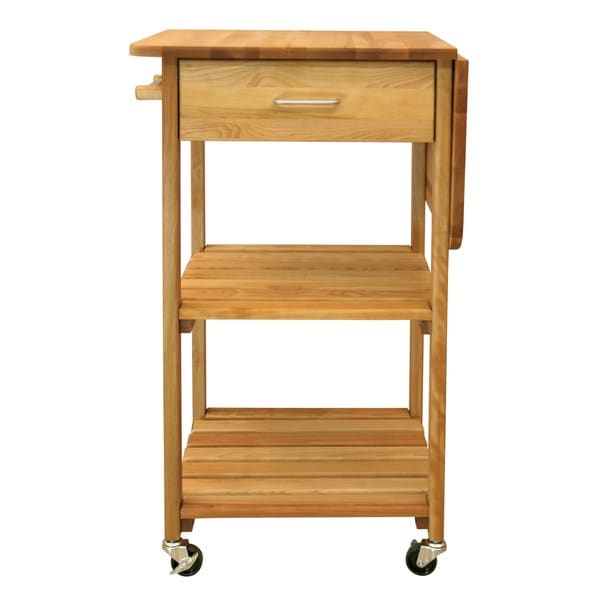 butcher block cart walmart kitchen carts wheels on
