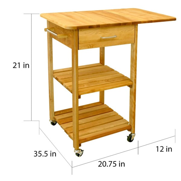 butcher block cart for kitchen carts wheels walmart