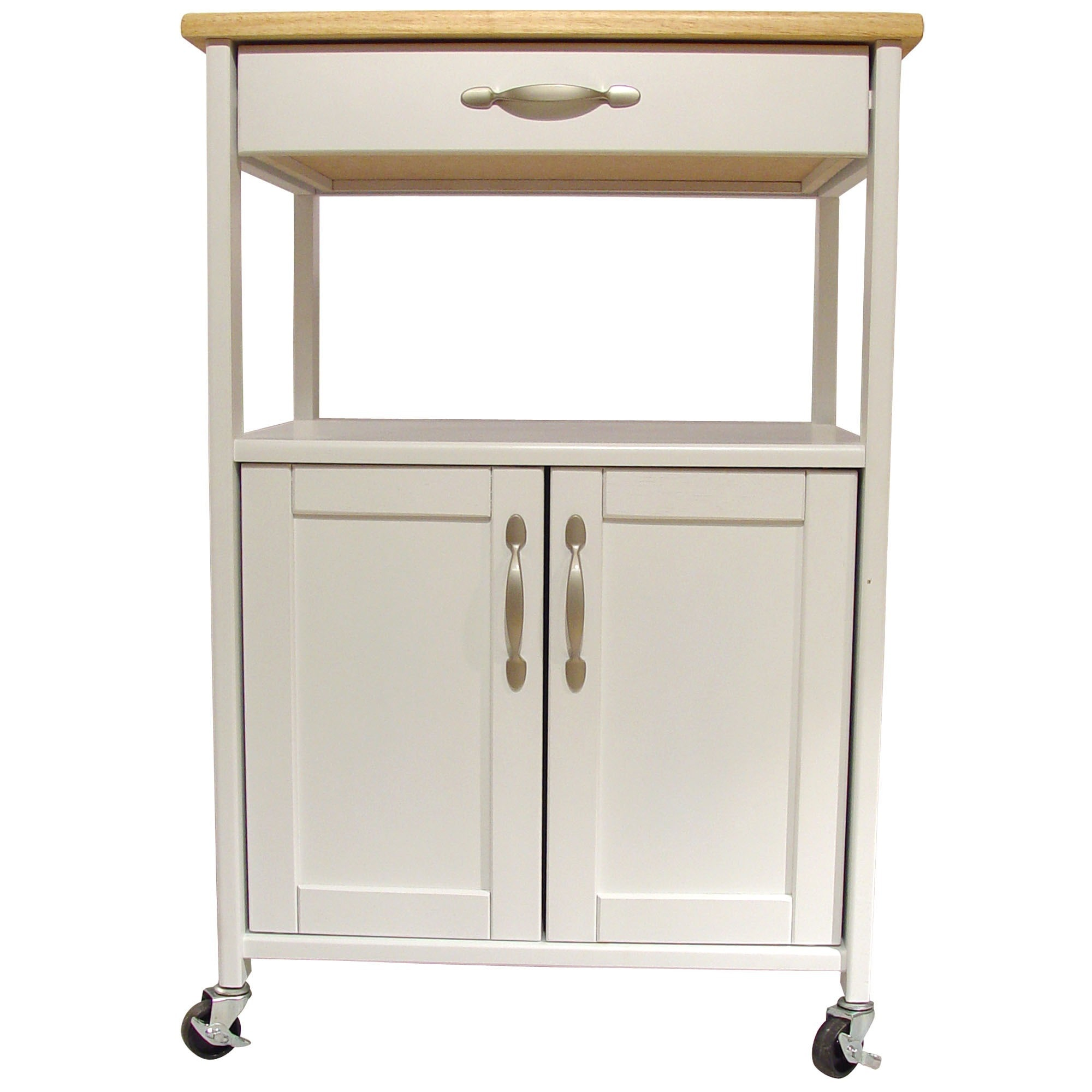 block cart garage butcher open kitchen storage with shelf drawer