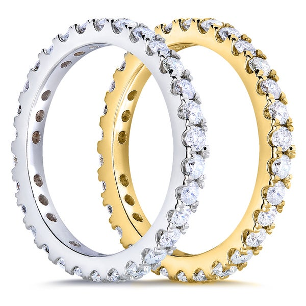 Annello by Kobelli 14k Gold 1ct TDW Diamond Eternity Band (G-H, I1-I2)