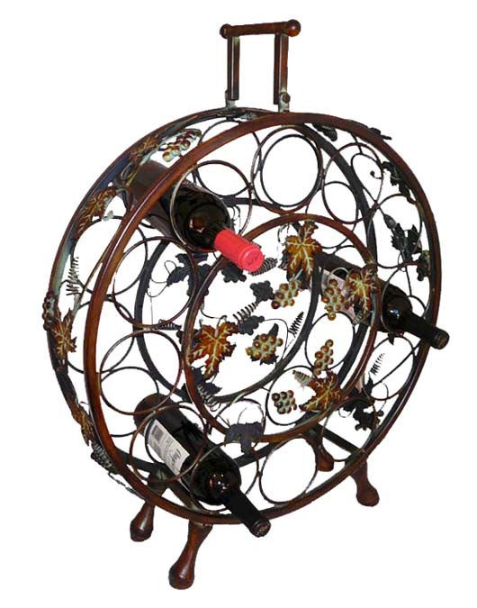 Handcrafted Metal Wine Bottle Holder / Rack