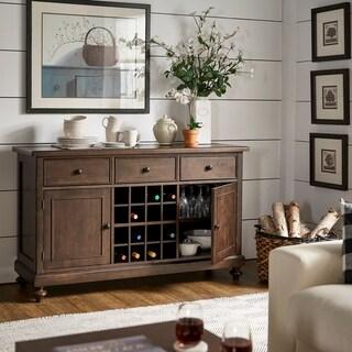 Copper Grove Halifax Brown Wine Rack/ Buffet Table