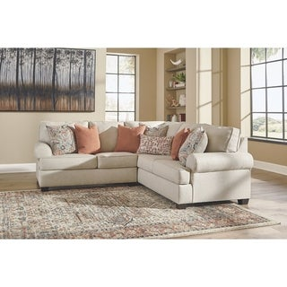 Amici 2-Piece Contemporary Linen Sectional