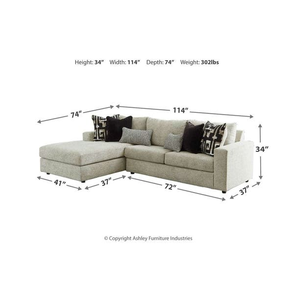 Fine Shop Ravenstone 2 Piece Mid Century Sectional With Sleeper Gmtry Best Dining Table And Chair Ideas Images Gmtryco