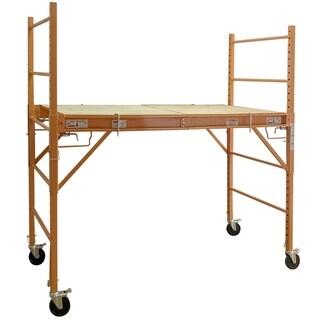 3-in-1 Adjustable Rolling Baker Scaffolding 6'x2.5'x6.2'