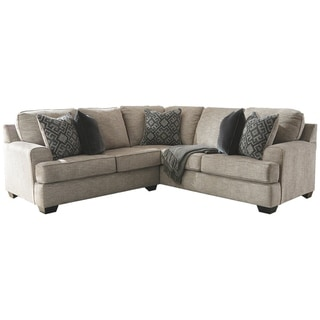 Bovarian 2-Piece Contemporary Sectional - Stone