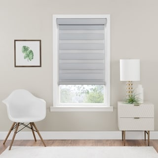 Cordless Celestial Room Darkening Double Layered Shade in Oyster (As Is Item)