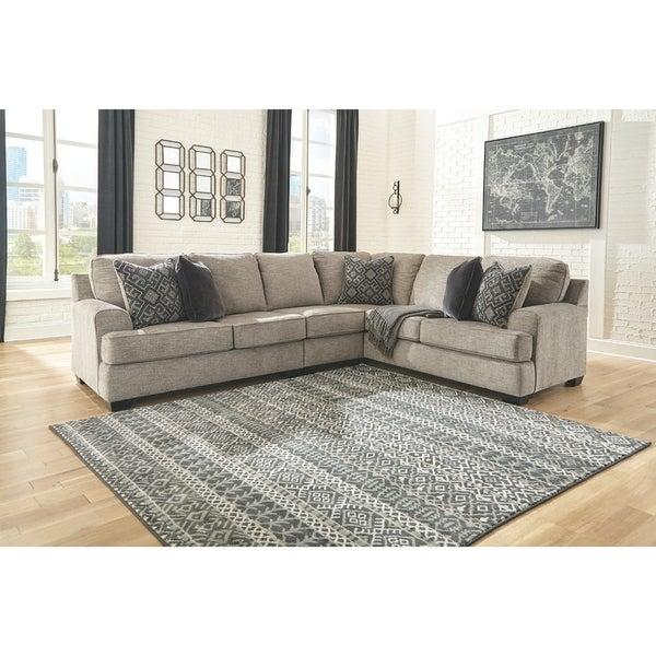Bovarian 3-Piece Contemporary Sectional - Stone