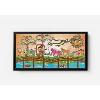 Bolly Attacked by a Snake Long Horizontal Framed Canvas Wall Art by Bolly Doll